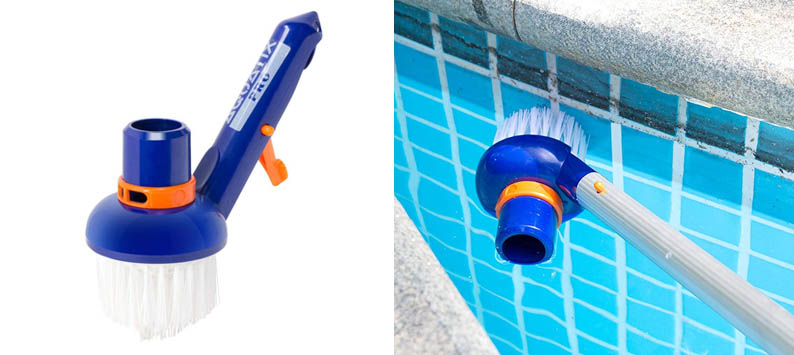 Aquatix Pro Pool Step & Corner Vacuum Brush Best for Above Ground & Inground Swimming Pools, Spas & Hot Tubs