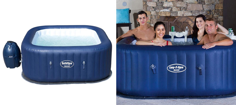 Bestway SaluSpa Hawaii 6 Person Portable Inflatable Spa Hot Tub & Drink Holder