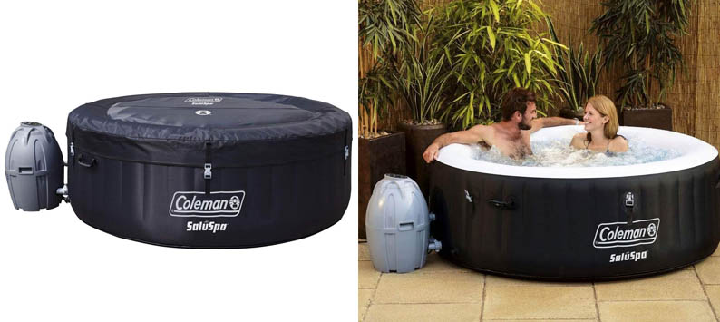 Coleman 71 x 26 Portable Spa Inflatable 4-Person Hot Tub