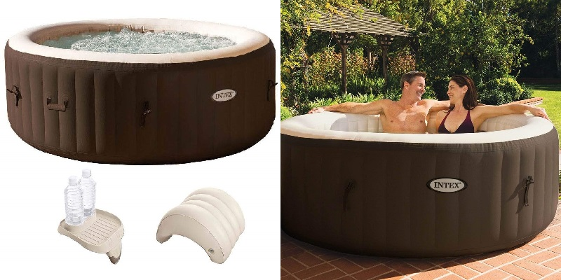 Intex PureSpa Inflatable Spa with Cupholder & Headrest