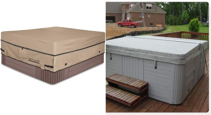 Ultcover 600D Square Outdoor Spa Cover