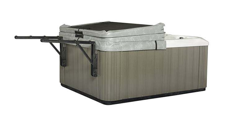 The Slider Spa Cover No-Lift Remover & Storage System for Hot Tub